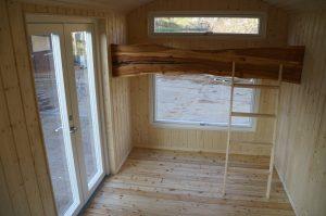 Ruheraum im Saunawagen