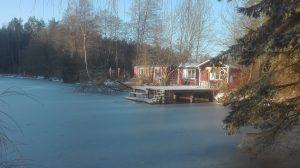Saunawagen am See