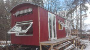 Sauna im Zirkuswagen