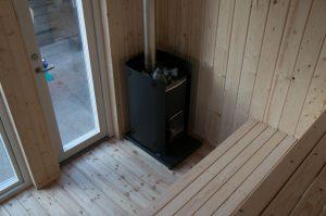 Sauna im Bauwagen