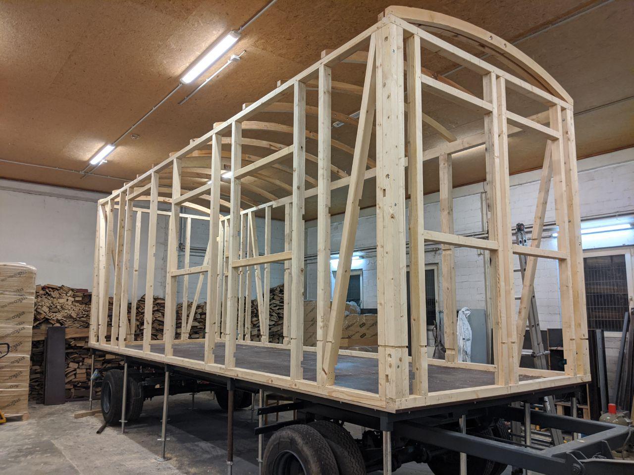 Rohbau Tiny House Bauwagen